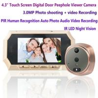 Buy cheap 4.3 Digital Door Peephole Viewer Photo Video Camera Recorder Night Vision Door Eye Smart PIR Doorbell Intercom System from wholesalers