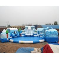Buy cheap high quality snow design inflatable water park for kids and adult on land from wholesalers