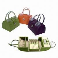 Buy cheap Stylish Leather Jewelry Box for Travel and Home, with Graceful Handbag Appearance from wholesalers