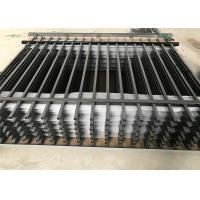 China 25mm*25mm picket Spear top black steel fence on sale