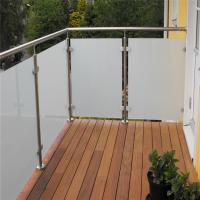 Buy cheap Outdoor customized stainless steel tempered glass railing for balcony from wholesalers