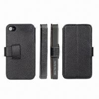 Buy cheap Real Leather Hand Phone Side-open Covers for iPhone4/4S product