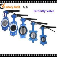 Buy cheap Industrial EPDM Seated Wafer End Type Centerline Butterfly Valve Rubber Lined from wholesalers