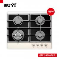 Buy cheap 600mm cast Iron Gas Stove, Gas hob, 4 burner, sabaf, glass hob CE CB from wholesalers