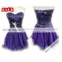 Buy cheap Chiffon Sequined Rhinestones Short Puffy Homecoming Dress TP11-10S from wholesalers