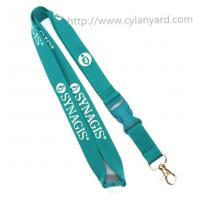 Buy cheap Sponsor woven id lanyards, premium single sided jacquard woven lanyards, from wholesalers