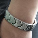 Buy cheap Fashion negative ion energy bracelet, titanium germanium energy bracelet from wholesalers