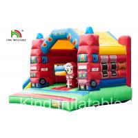 Buy cheap Slide Type Fire Truck Trampoline Inflatable Jumping Castle For Indoor Kids from wholesalers