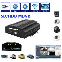Buy cheap 4Ch SD / HDD 3G Mobile DVR Security Camera System Support Real Time Recording product