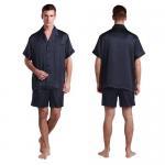 Buy cheap Short Silk Pajama Set for Men / Classic Short Silk Pajama Set / Silk Sleepwear for men from wholesalers
