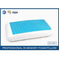 Buy cheap Traditional Blue PU Memory Foam Cooling Gel Pillow , Memory Foam Decorative Pillow from wholesalers