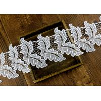 Buy cheap Leaf Guipure Polyester Lace Trim With Water Soluble Reach L4 High Color Fastness from wholesalers