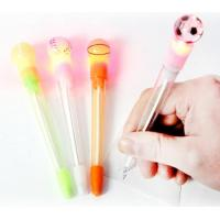 Football Novelty Plastic Pens For Kids With LED Light