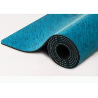 Buy cheap Custom Printing PU Natural Rubber Yoga Mat Wet Absorbance Blue Color from wholesalers