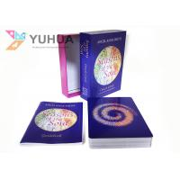 Buy cheap Custom Printing Own Created Psychic Tarot Oracle Cards With Two Pieces Box from wholesalers