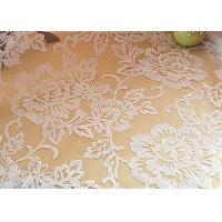 Buy cheap Embroidered Floral Sequin Netting Fabric , Sequin Tulle Fabric For Ivory Wedding Dresses from wholesalers