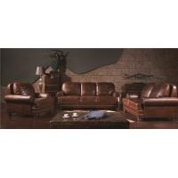 Buy cheap Wooden Legs 100 Genuine Soft Grain Leather Sofa High Density Foam Multi - Size Choice from wholesalers