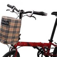 Buy cheap Bike Bicycle Mount Canvas Storage Basket Bag Handlebar Front Assorted color from wholesalers