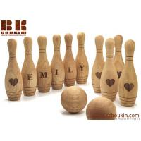 Buy cheap Wooden Toy 10 Pin Bowling Game Set Bowling Game Wooden toys Gift for Baby Christmas from wholesalers