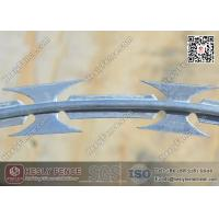 Buy cheap BTO-22 O.D 500mm Galvanised Concertina Cross Razor Barbed Wire Fencing | Anping China Supplier from wholesalers