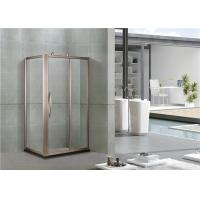 Buy cheap Rose Gold Full Aluminum Alloy Rectangular Shower Cubicles With Octagonal Wheel from wholesalers