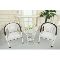 Buy cheap Rattan Table Set white color from wholesalers