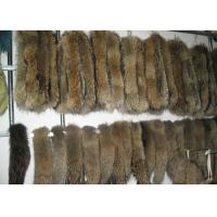 Buy cheap Brown Real Fur Hood Trim For Cloth , Raccoon Detachable Real Fur Collar 30 Cm * 80 Cm from wholesalers