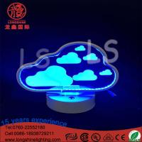 Buy cheap LED acrylic cloudy 22cm battery operated remote control neon sign table lamps from wholesalers