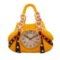 Buy cheap luxury women handbag shape yellow alarm clock from wholesalers