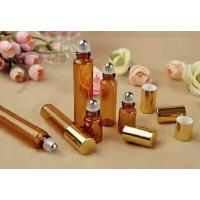 Buy cheap empty 3ml 5ml  8ml 10ml 15ml amber cosmetic  perfume glass roll on bottle from wholesalers