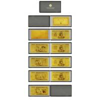 Buy cheap (One Lot 4pcs) Zimbabwe 99.9% Pure 24 karat Gold Foil Banknote Along With Leather Case For Ornament from wholesalers