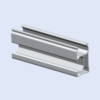 Buy cheap Extruded Aluminum Slotted Rail For Photovoltaic Module Mounting Systems OEM from wholesalers