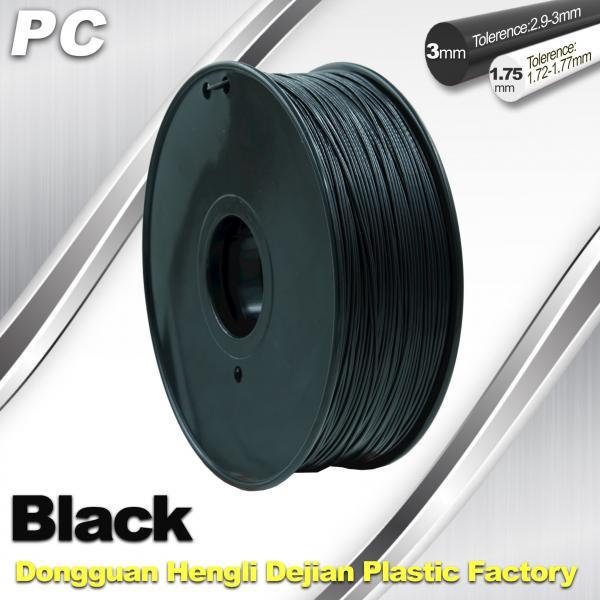 Buy cheap High Transparent 1.75mm / 3.0mm 3D Printer Filament  , PC Filament  temperature 230°C  - 280°C from wholesalers