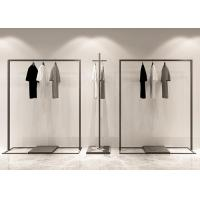 Buy cheap Iron Powder Coated Matt Black Garment Display Stands / Clothes Display Hanger Stand from wholesalers
