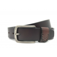 Buy cheap 3.8CM Custom Logo Cow Leather Jeans Belt Mens Casual Leather Belt from wholesalers