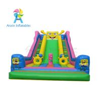 Buy cheap Awesome event/party rentals Super children Inflatable Colorful Slide For Sale from wholesalers