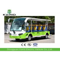 Buy cheap 14 Passengers Electric Sightseeing Car , Electric Shuttle Bus With Fiber Glass Body product