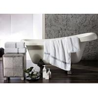 Buy cheap Comfortable 500GSM Hotel Towel Set Jacquard And White Color Moisture Absorption product