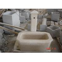 Buy cheap Pedestal Granite Water Fountain , Decorative Garden Stones Customized Dimension from wholesalers