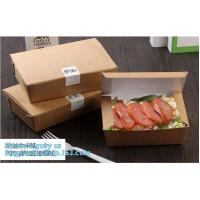 Buy cheap Custom Wholesale Recyclable Packaging Food Kraft Paper Lunch Corrugated Box,premium food box paper folding lunch box bro from wholesalers