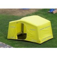 Buy cheap 0.9mm PVC Tarpaulin + Oxford Cloth Tourism / Advertising Inflatable Party Tent Yellow product