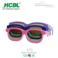 Adult Circular polarized 3d Glasses with ABS Frame 0.26 / 0.4 mm TAC Lens