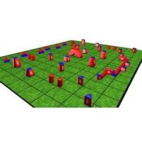 Buy cheap Paintball feild equipment customized 0.6mm PVC Inflatable Paintball Bunkers for Sports from wholesalers