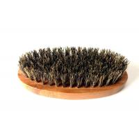 Quality 100% Boar Hair Bristle Bamboo Beard Brush: Military Round Bamboo for Men Brush Strokes. Great... for sale