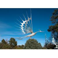 Buy cheap Animal Garden Decoration Stainless Steel Sculpture , Flying Bird Sculpture Metal product