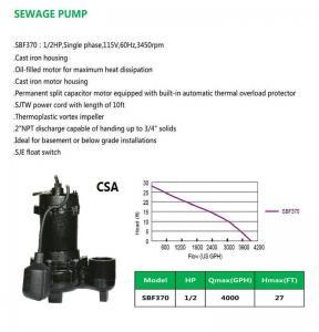 Buy cheap SEWAGE PUMP SBF370 product