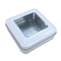 Buy cheap 2020 Hot Sale Customized Packing Mini Square Tin Boxes with Window from wholesalers