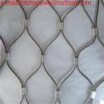 Buy cheap Anti-theft wire rope bag mesh/Stainless Steel Wire Rope Zoo Mesh/bird aviary zoo chain net stainless steel wire rope mes from wholesalers