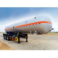 Buy cheap Optional Volume LPG Transport Truck LPG Aluminum Tanker Trailer For Liquefied Gas from wholesalers
