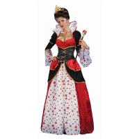 Buy cheap Alice in Wonderland Costumes Deluxe Gown Queen of Hearts Womens Costume in red with dress waist cincher size S to 3Xl from wholesalers